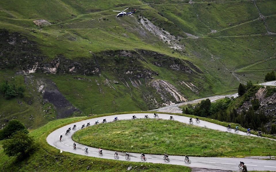 Stage 9 of the 108th Tour de France; the pack between Cluses and Tignes - Anne-Christine Poujoulat/Getty