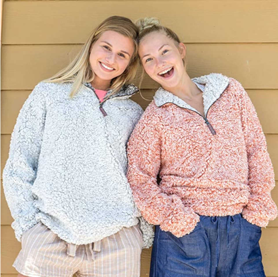 Warm, fuzzy, versatile... the True Grit Frosty Tipped Pullover would put a smile on anyone's face.
