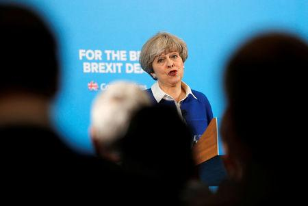 Britain's May could lose majority in June 8 election, projection shows