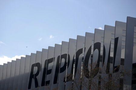 FILE PHOTO: A view shows the headquarters of Spanish oil major Repsol in Madrid
