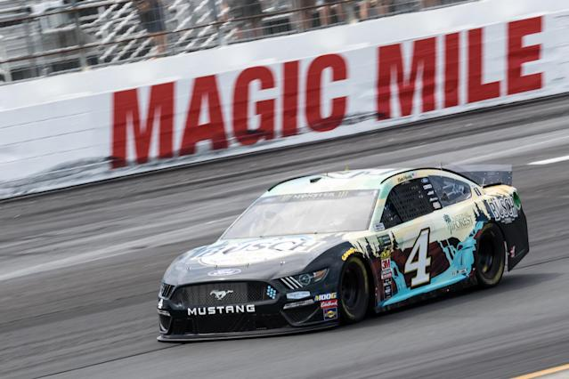 "<a class=""link rapid-noclick-resp"" href=""/nascar/sprint/drivers/205/"" data-ylk=""slk:Kevin Harvick"">Kevin Harvick</a> has a race win in 2019. (Photo by David Hahn/Icon Sportswire via Getty Images)"