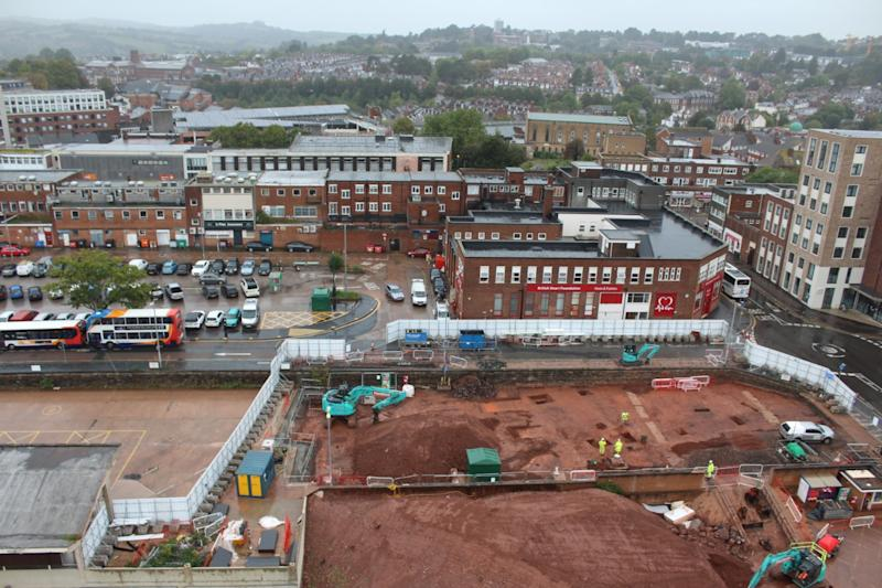 The discovery was made before construction of a new bus station and leisure centre begins (PA)