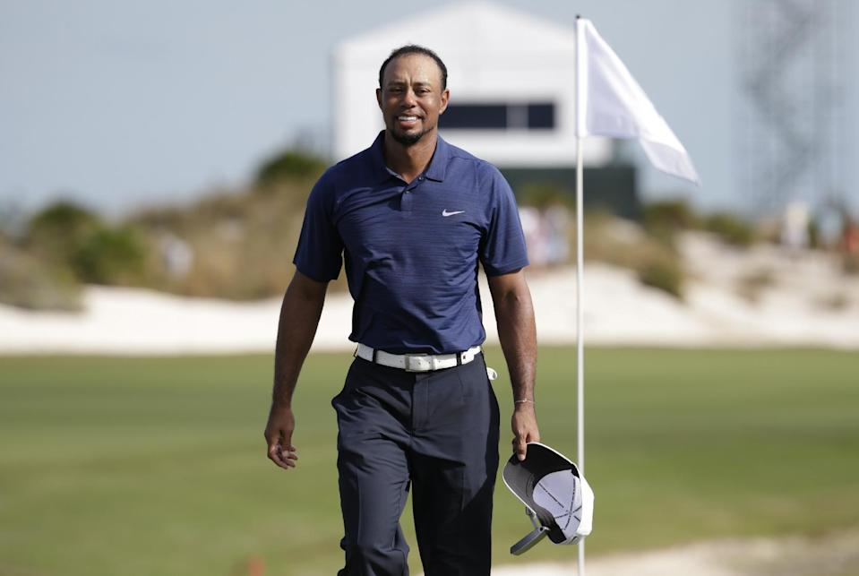 Tiger Woods in the Bahamas (AP)
