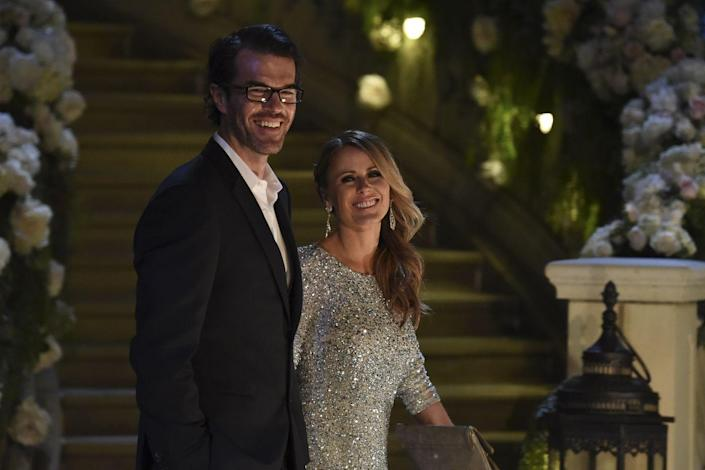 """<p>ABC's very first <em>Bachelorette</em> set a high standard for future series stars. Trista Rehn chose firefighter Ryan Sutter on the show, he proposed, and they wed in a televised ceremony in December 2003.</p><p>The couple welcomed their son, Maxwell Alston, in July 2007 and their daughter, Blakesley Grace, in April 2009.</p><p>Trista previously told <em><a href=""""https://www.womenshealthmag.com/relationships/a26344567/trista-ryan-sutter-marriage-counseling/"""" rel=""""nofollow noopener"""" target=""""_blank"""" data-ylk=""""slk:Women's Health"""" class=""""link rapid-noclick-resp"""">Women's Health</a></em> how they make their love last. """"You need to put the time and effort into your relationship just as much as you put time and effort into everything else,"""" she said. </p><p>Speaking of effort, Ryan went full-on romantic for their wedding. """"The most romantic thing Ryan has done for me is write a poem to me on the show and then turn it into a song recorded by Brad Paisley,"""" Trista recalled. """"He surprised me with that as our first dance on our wedding night.""""</p>"""