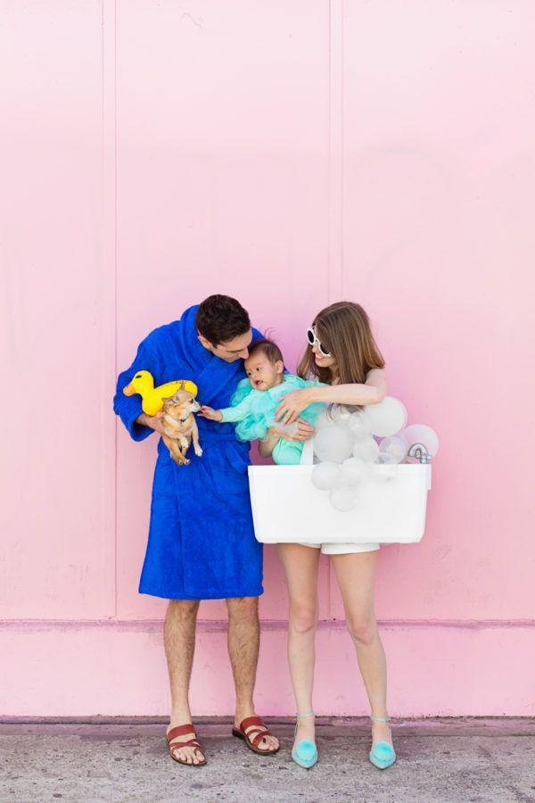"""<p>This couples costume works just as well with or without a newborn baby, but it's pretty darn cute if you've got one! Plus, with just a few white balloons, a bathrobe, and a handful of other supplies needed to pull it all together, it's a great last-minute option, too.</p><p><strong>Get the tutorial at <a href=""""https://studiodiy.com/2017/10/11/diy-bubble-bath-family-costume/"""" rel=""""nofollow noopener"""" target=""""_blank"""" data-ylk=""""slk:Studio DIY"""" class=""""link rapid-noclick-resp"""">Studio DIY</a>.</strong></p><p><strong><a class=""""link rapid-noclick-resp"""" href=""""https://www.amazon.com/White-Premium-Pearl-Metallic-Balloons/dp/B0786S3YGR?tag=syn-yahoo-20&ascsubtag=%5Bartid%7C10050.g.4616%5Bsrc%7Cyahoo-us"""" rel=""""nofollow noopener"""" target=""""_blank"""" data-ylk=""""slk:SHOP WHITE BALLOONS"""">SHOP WHITE BALLOONS</a><br></strong></p>"""
