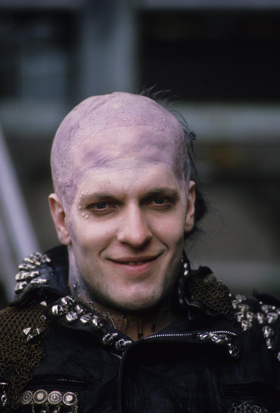 Clancy Brown on set of 'Highlander', directed by Russell Mulcahy, Great Britain, June 1985.  (Photo by Georges De Keerle/Getty Images)