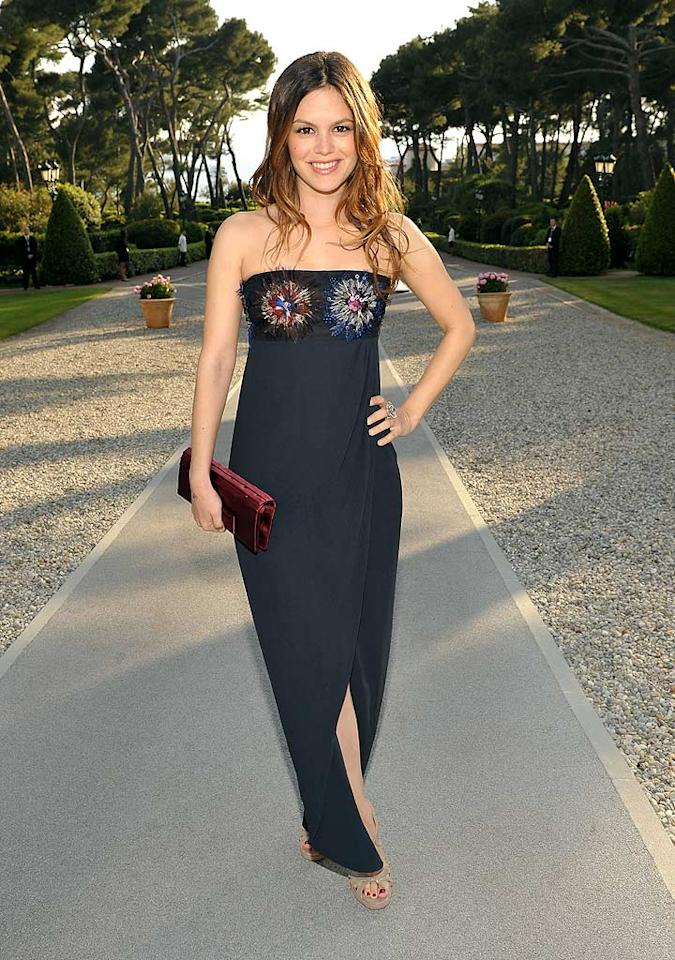 """Rachel Bilson accentuated her petite physique -- and her bosom -- in an embellished strapless creation by Chanel. John Shearer/amfAR1/Francois Durand/<a href=""""http://www.gettyimages.com/"""" target=""""new"""">GettyImages.com</a> - May 20, 2010."""