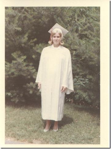 """Karen B."" on graduation day at Florence Crittenton Maternity Home, D.C., circa June 1966."