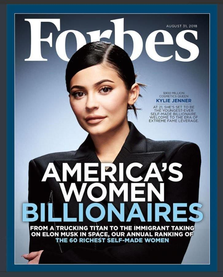Successful: Kylie Jenner on the cover of Forbes (Sarah Spalding)