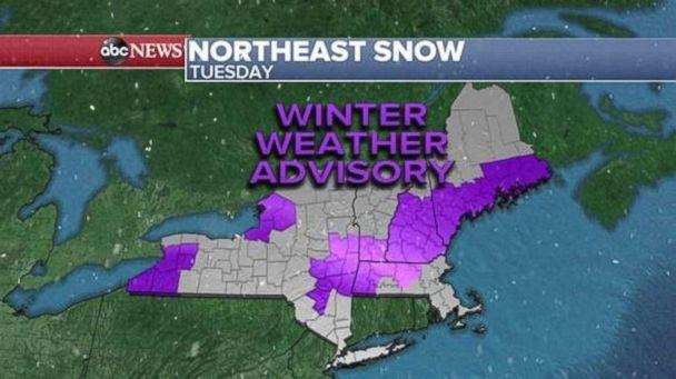Winter weather advisories are in effect this morning. (ABC News)