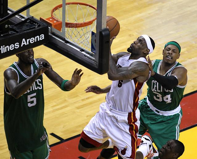 The Celtics could do nothing with LeBron James in 2012. (Photo by Barry Chin/The Boston Globe via Getty Images)