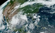 This RAMMB/NOAA satellite image obtained on June 26, 2020 at 15:16 UTC shows Hurricane Hanna in the Gulf of Mexico (AFP Photo/Handout)