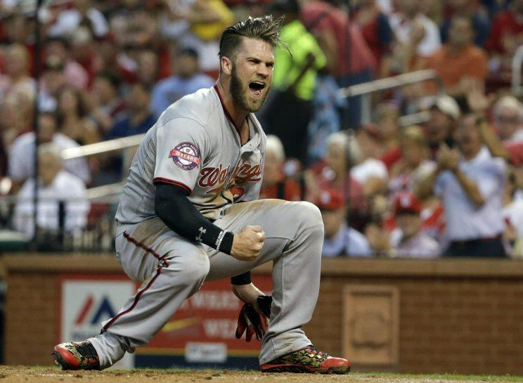 Bryce Harper appears healthy and ready to get back on track in 2017. (AP Photo)