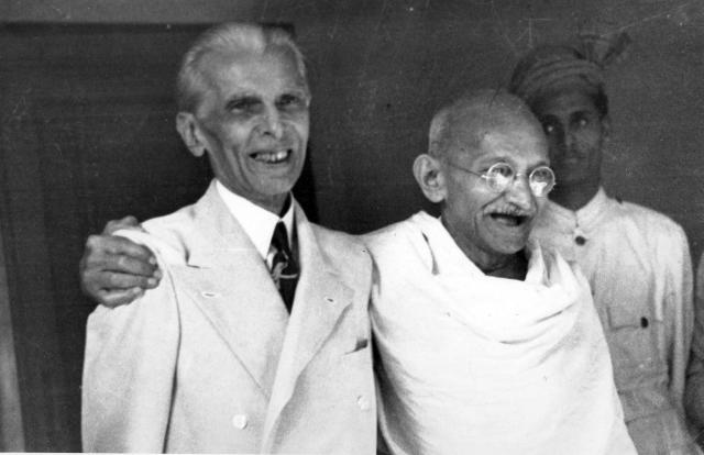 Muhammad Ali Jinnah (1876 Ð1948) lawyer, politician, and the founder of Pakistan with Mahatma Gandhi in 1946. Jinnah served as leader of the All-India Muslim League from 1913 until Pakistan's creation on 14 August 1947, and then as Pakistan's first Governor-General until his death. Mohandas Gandhi (1869 Ð 1948) was the preeminent leader of the Indian independence movement in British-ruled India. (Photo by: Universal History Archive/Universal Images Group via Getty Images)