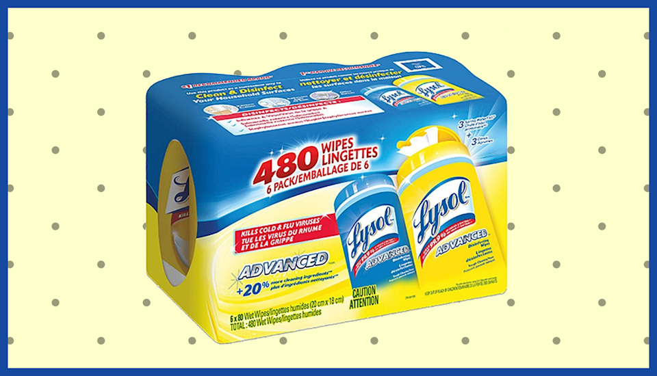 Lysol Disinfecting Wipes and Spray are back in stock! (Photo: Amazon)
