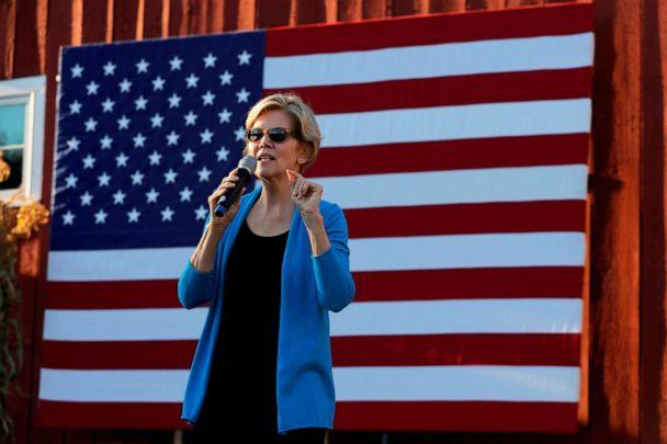 PHOTO: Democratic 2020 U.S. presidential candidate and Sen. Elizabeth Warren speaks at a campaign stop in Hollis, New Hampshire, Sept. 27, 2019. (Brian Snyder/Reuters, FILE)
