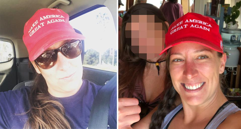 Ashli Babbit, pictured left and right, was killed in the Capitol chaos and was an ardent Trump supporter.