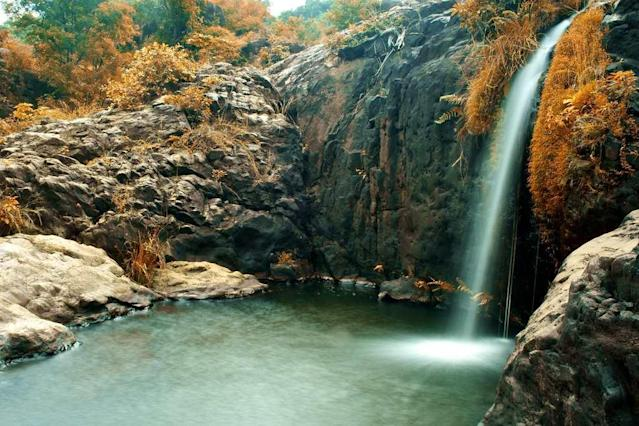 "The picturesque Agasthiyar Falls in Tirunelveli district of Tamilnadu. The falls are located about 4 km from the famous Papanasam Shiva temple. <br><br>By <a href=""https://www.flickr.com/photos/exploring_india/"" rel=""nofollow noopener"" target=""_blank"" data-ylk=""slk:Exploring India"" class=""link rapid-noclick-resp"">Exploring India</a> <br>"