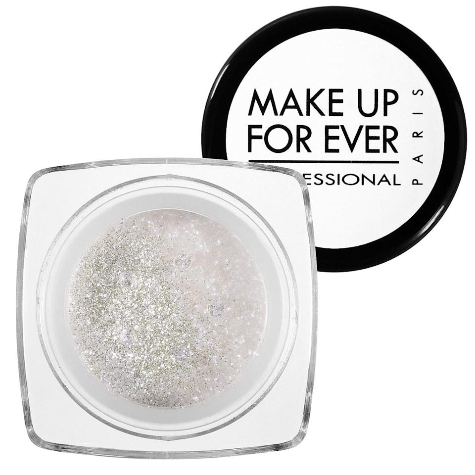 """<p>Shimmery powder combined with micro-glitter creates a look that's truly brilliant. Apply to lids, mix with body lotion, or get creative. <b><a href=""""http://www.sephora.com/diamond-powder-P86616?skuId=810135"""" rel=""""nofollow noopener"""" target=""""_blank"""" data-ylk=""""slk:Make Up For Ever Diamond Powder"""" class=""""link rapid-noclick-resp"""">Make Up For Ever Diamond Powder</a> ($25)</b></p>"""