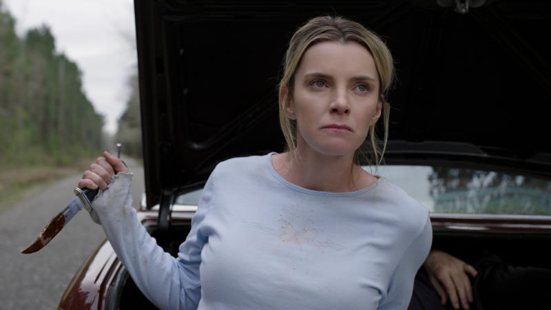 Betty Gilpin stars in controversial horror movie 'The Hunt'. (Credit: Universal)