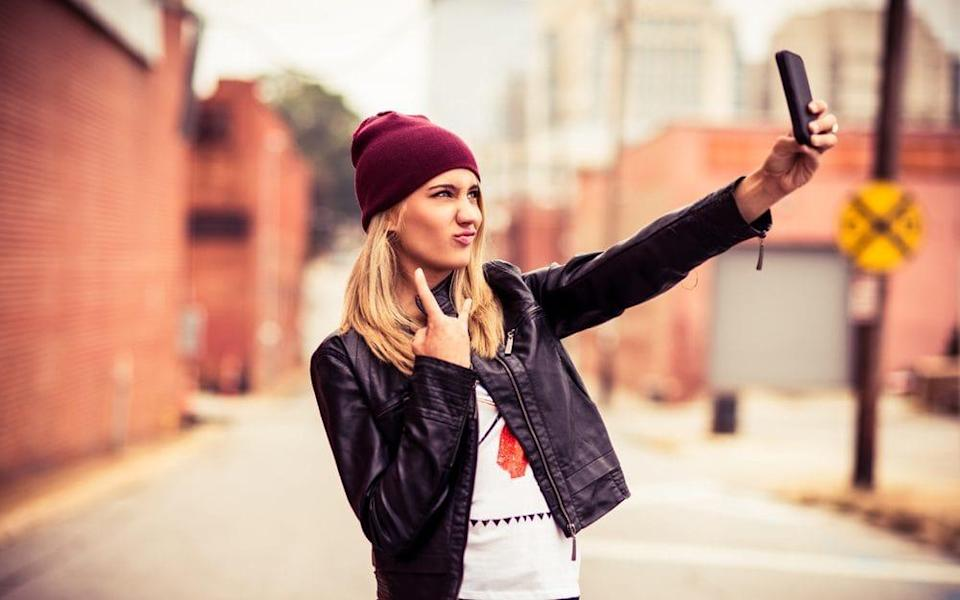 Selfies distort facial features new research has found - Getty