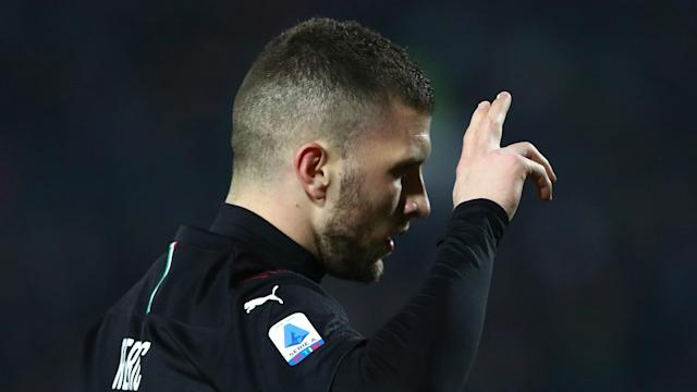 Milan maintained their winning run with a 1-0 victory at Brescia thanks to Ante Rebic's 71st-minute strike.