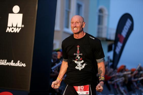 Gareth Thomas competes in Ironman Wales (Getty Images)