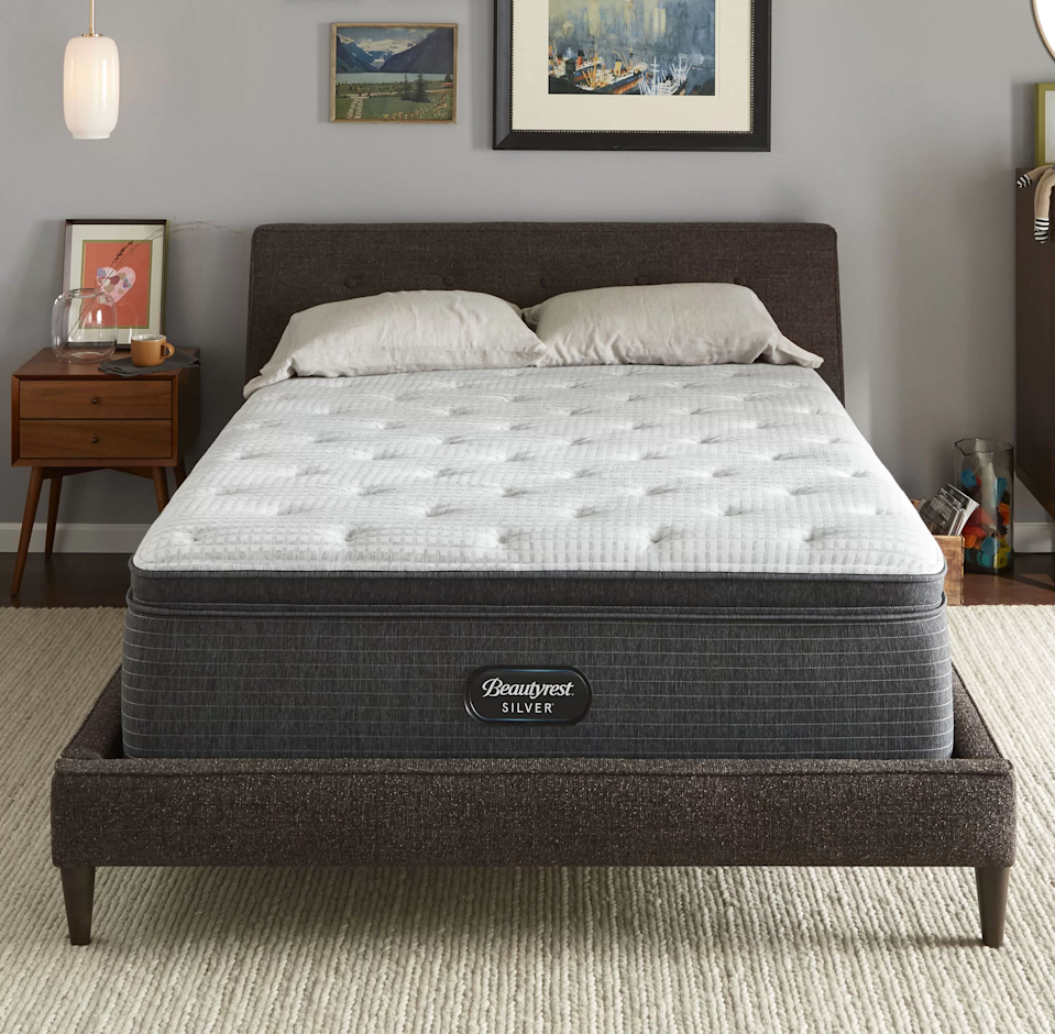 """<h3>Beautyrest</h3><br><strong>Dates:</strong> 11/30<br><strong>Deal: </strong>Save up to 40% off on Beautyrest beds and pillows at Joss & Main<br><strong>Promo Code: </strong>SAVE25 for an extra 25% off sitewide<br><br><em>Shop</em> <em><a href=""""https://www.jossandmain.com/furniture/pdp/beautyrest-silver-16-plush-pillow-top-hybrid-mattress-and-box-spring-sin2538.html"""" rel=""""nofollow noopener"""" target=""""_blank"""" data-ylk=""""slk:Beautyrest at Joss & Main"""" class=""""link rapid-noclick-resp""""><strong>Beautyrest at Joss & Main</strong></a></em><br><br><strong>Beautyrest</strong> 16"""" Plush Pillow Top Hybrid Mattress and Box Spring, $, available at <a href=""""https://go.skimresources.com/?id=30283X879131&url=https%3A%2F%2Fwww.jossandmain.com%2Ffurniture%2Fpdp%2Fbeautyrest-silver-16-plush-pillow-top-hybrid-mattress-and-box-spring-sin2538.html"""" rel=""""nofollow noopener"""" target=""""_blank"""" data-ylk=""""slk:Joss & Main"""" class=""""link rapid-noclick-resp"""">Joss & Main</a>"""