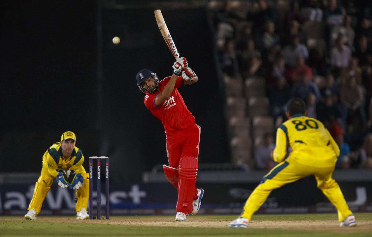 England's Ravi Bopara during the International Twenty20 match at the Ageas Bowl, Southampton.