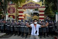 Much of the country has been in uproar since troops deposed civilian leader Aung San Suu Kyi on February 1