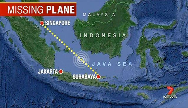 Missing AirAsia flight QZ8501 was not far from the shoreline when it went missing between Tanjung Pandan and Pontianak. Photo: 7News