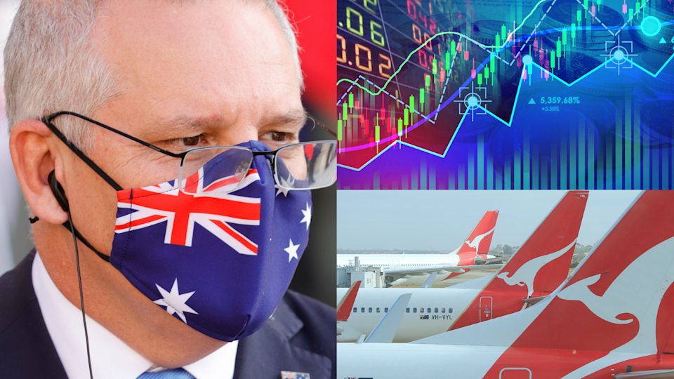 Prime Minister Scott Morrison warned on Wednesday that the current lockdown will be a massive blow to jobs. Source: Getty/Yahoo Finance
