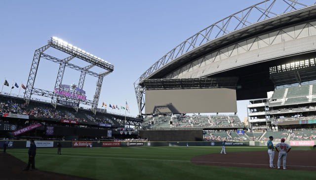T-Mobile Park could be empty during the Mariners' early home series. (AP Photo/Ted S. Warren)
