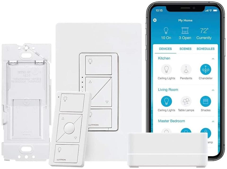 <p>If you want a more advanced lighting system, invest in this <span>Lutron Caseta Smart Start Kit</span> ($100).</p>