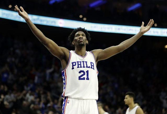 "A healthy <a class=""link rapid-noclick-resp"" href=""/nba/players/5294/"" data-ylk=""slk:Joel Embiid"">Joel Embiid</a> is worth the wait. (AP)"
