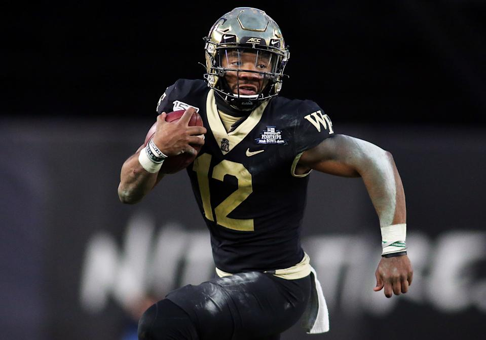 Former Wake Forest QB Jamie Newman transferred to Georgia for the 2020 season. (Photo by Daniel Kucin Jr./Icon Sportswire via Getty Images)