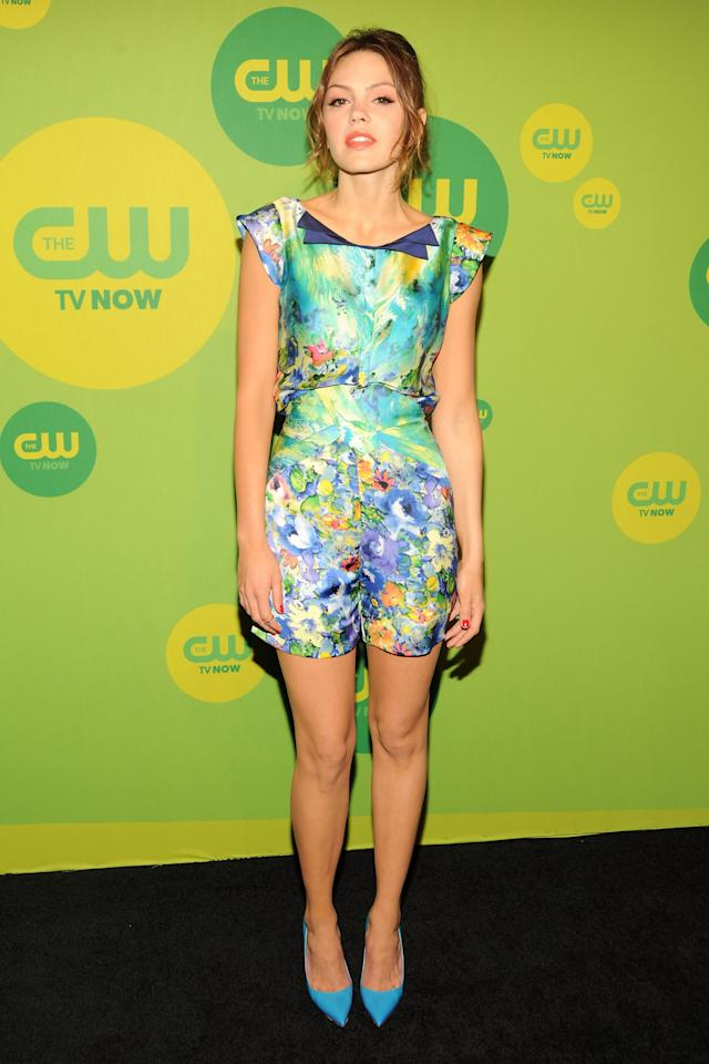 NEW YORK, NY - MAY 16:  Actress Aimee Teegarden attends The CW Network's New York 2013 Upfront Presentation at The London Hotel on May 16, 2013 in New York City.  (Photo by Ben Gabbe/Getty Images)