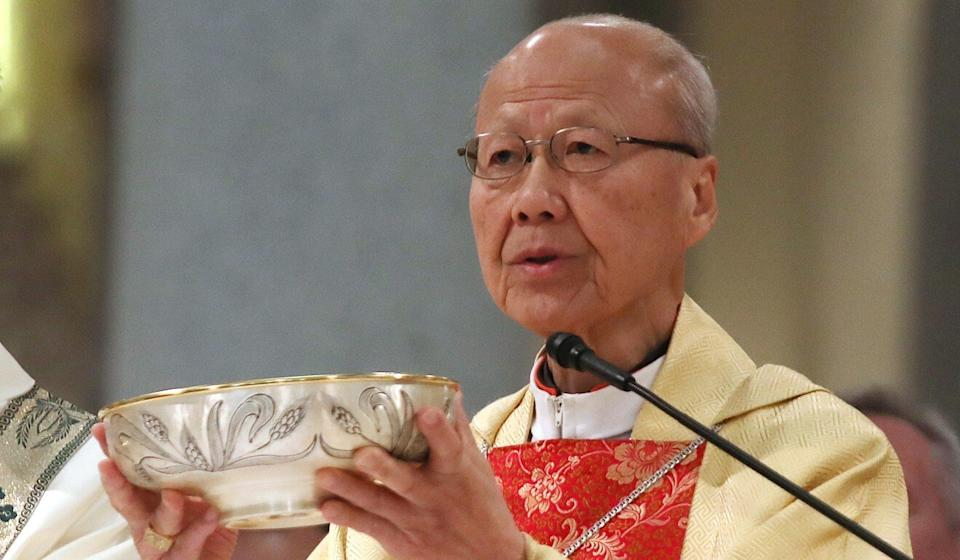Cardinal John Tong Hon was brought out of retirement to serve as acting head of the Hong Kong diocese. Photo: Xiaomei Chen