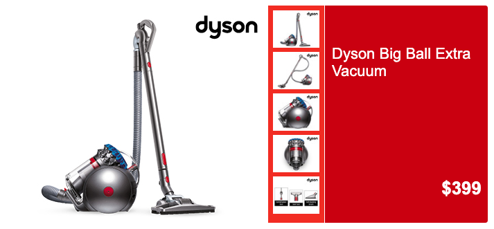 Aldi Special Buys, Saturday 14 December: Dyson Big Ball Extra Vacuum. (Source: Aldi)