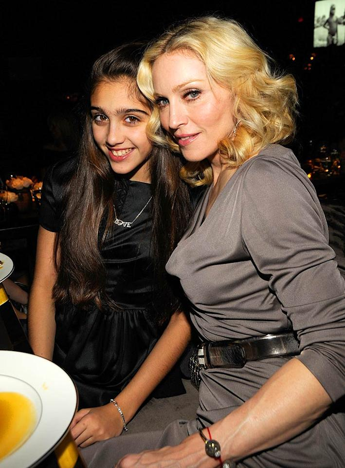 "Madonna's daughter Lourdes has her mother's smile and nose. Kevin Mazur/<a href=""http://www.wireimage.com"" target=""new"">WireImage.com</a> - February 6, 2008"