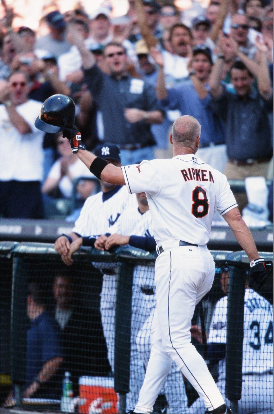 """<p><strong>July 10, 2001</strong>: In addition to being baseball's all-time Iron Man, Cal Ripken could rise to the occasion. Case in point: He homered in the game he matched Lou Gehrig's 2,131-consecutive-games-played record, and again the next day when he broke it. So it was no surprise that he would deliver a great moment in his final All-Star Game in 2001.<br><br>Ripken, a landslide selection to start at third base for the American League, came to the plate in the third inning to the theme from the movie, <em>The Natural</em>. He received a warm ovation, so affectionate and long that he had to step out of the batter's box and acknowledge it.<br><br>When he steps back in, Dodgers pitcher Chan Ho Park delivers the first pitch...and Ripken sends it over the fence in left field. He becomes the oldest player (40 years, 10 months, 16 days) to hit a home run in the All-Star Game, eclipsing Stan Musial, and is named the Game's MVP for a record second time.<br><br>""""As far as special moments go, it doesn't get any better than that,"""" says fellow all-star and 2001 retiree Tony Gwynn.<br> </p>"""