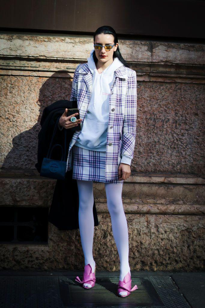 """<p>Channel your inner '90s babe in all-over plaid, then throw on your favorite hoodie for a modern twist. </p><p><strong>What you'll need:</strong> <em>Sweeter Than Honey Jacket Pink Plaid, $20, Beginning Boutique</em></p><p><a class=""""link rapid-noclick-resp"""" href=""""https://go.redirectingat.com?id=74968X1596630&url=https%3A%2F%2Fwww.beginningboutique.com%2Fproducts%2Fsweeter-than-honey-jacket-pink-plaid&sref=https%3A%2F%2Fwww.seventeen.com%2Ffashion%2Fstyle-advice%2Fg22548712%2Fcute-fall-outfits%2F"""" rel=""""nofollow noopener"""" target=""""_blank"""" data-ylk=""""slk:SHOP HERE"""">SHOP HERE</a></p>"""