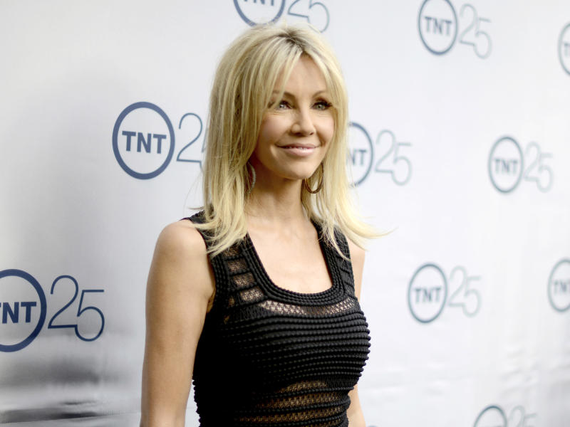 FILE - In this July 24, 2013 file photo, actress Heather Locklear arrives at the TNT 25th Anniversary Party in Beverly Hills, Calif. Locklear has been arrested on suspicion of fighting first responders for the second time this year. Ventura County Sheriff's officials say Locklear was released from jail Monday after posting $20,000 bail. Authorities say Locklear appeared to be extremely intoxicated when deputies arrived at her Southern California home after a report of a domestic dispute at about 11 p.m. Sunday. Authorities say she kicked a deputy and a paramedic. She was taken to a hospital and booked into jail. (Photo by Jordan Strauss/Invision/AP, File)