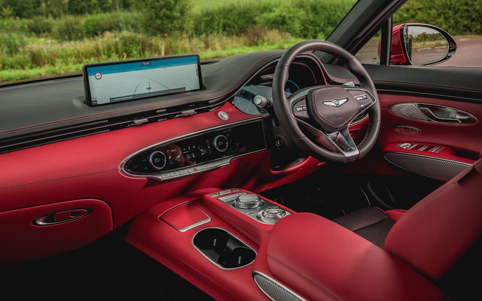 The Sport Line adds leather upholstery, heated front seats, three-zone climate control, ambient lighting and sportier styling - Genesis