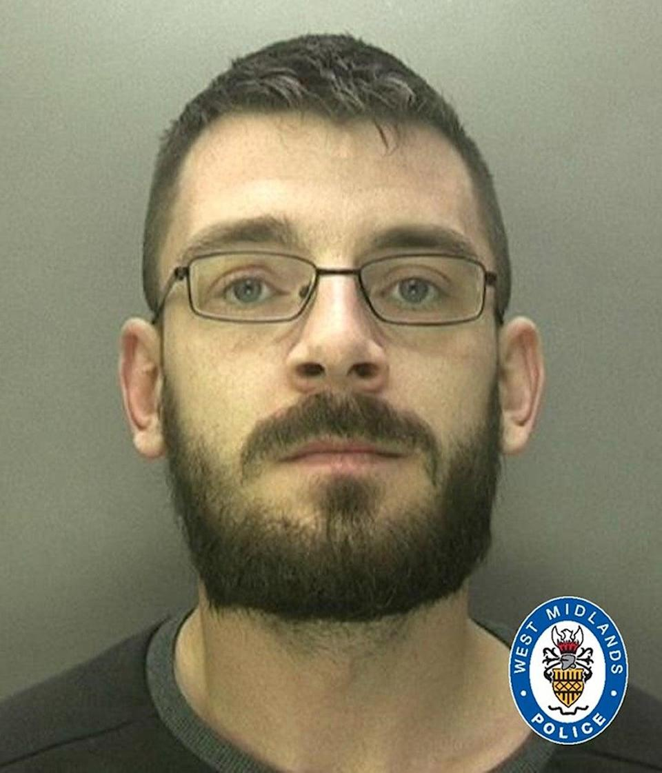 A custody image of Sean Sadler issued after he was jailed in March (West Midlands Police/PA) (PA Media)