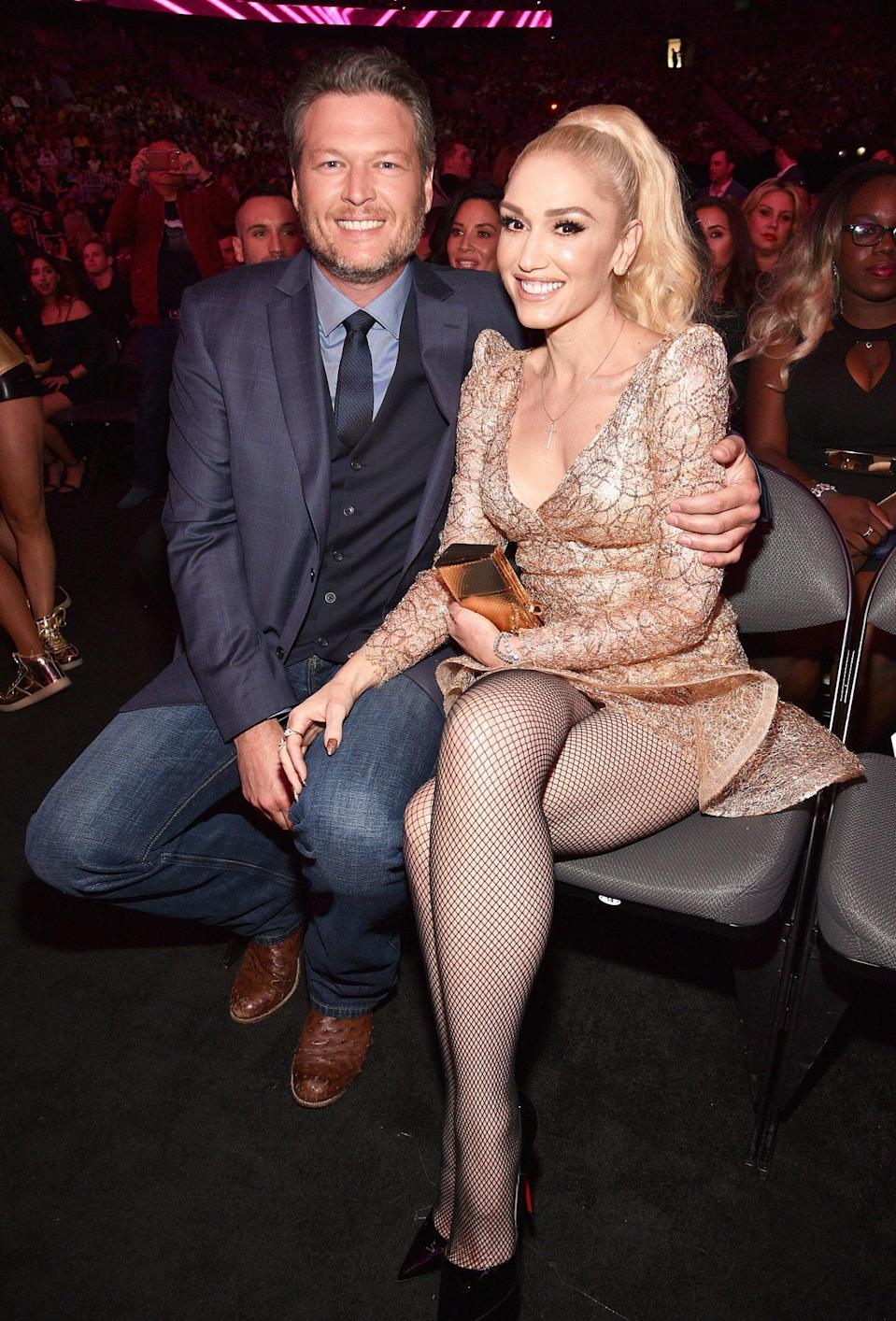 """<p>After Shelton was named <a href=""""https://people.com/country/sexiest-man-alive-blake-shelton-2017-cover-reveal/"""" rel=""""nofollow noopener"""" target=""""_blank"""" data-ylk=""""slk:PEOPLE's Sexiest Man Alive"""" class=""""link rapid-noclick-resp"""">PEOPLE's Sexiest Man Alive</a>, the country singer told PEOPLE that he credited his <a href=""""https://people.com/style/blake-shelton-on-gwen-stefanis-shoes-with-his-face-camo-and-more/"""" rel=""""nofollow noopener"""" target=""""_blank"""" data-ylk=""""slk:girlfriend of two years"""" class=""""link rapid-noclick-resp"""">girlfriend of two years</a>, <a href=""""https://people.com/tag/gwen-stefani/"""" rel=""""nofollow noopener"""" target=""""_blank"""" data-ylk=""""slk:Gwen Stefani"""" class=""""link rapid-noclick-resp"""">Gwen Stefani</a>, for convincing him to embrace the crown. """"She goes, 'Listen to me, you're going to regret this for the rest of your life if you don't take this gift and just live in the moment,"""" Shelton said. </p>"""