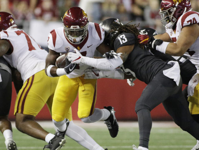 Washington State has been winning in a surprising way for a Mike Leach-coached team — with solid defense. (AP)