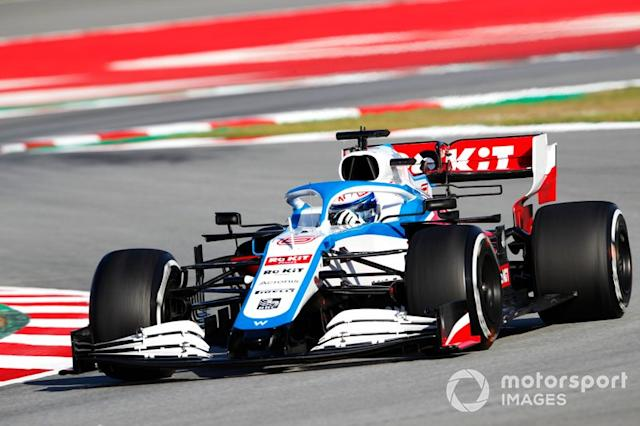 "2020: Williams FW43 en pretemporada <span class=""copyright"">Zak Mauger / Motorsport Images</span>"