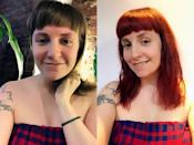 <p><strong>When:</strong> August 18<br>The 'Girls' star went from mousy brown to a fiery red, keeping her blunt fringe and shoulder-length hair.<br><i>[Photo: Instagram]</i> </p>