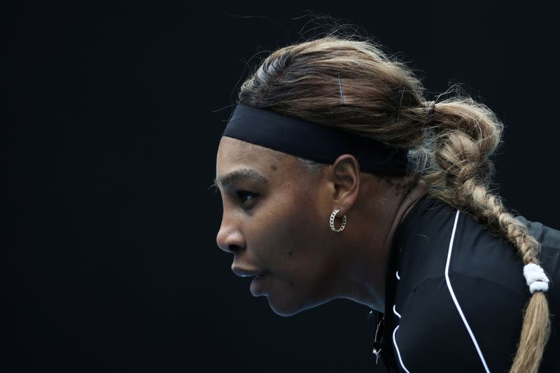 FILE PHOTO: Serena Williams of the U.S. competes in a tennis tournament in Melbourne